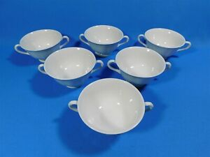 6-WEDGWOOD-OF-ETRURIA-amp-BARLASTON-QUEENS-SHAPE-LUG-DOUBLE-HANDLE-CUPS-BOWLS