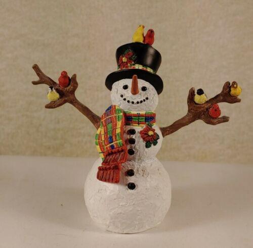 LENOX FEATHERED FRIENDS CHRISTMAS SNOWMAN BIRDS 2000 LYNN BYWATERS ORNAMENT