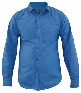 Men Casual Shirt Long Sleeve Poplin Oxford Cotton Shirts Top