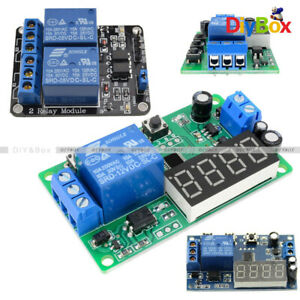 Details about 12V/5V 2 Channel 2CH LED Automation Delay Timer Switch Relay  Module For Arduino