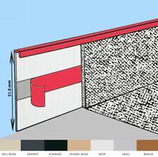 TEPPICHLEISTEN Selbstklebestreifen Leiste Sockelleiste Fussleisten schwarz 51mm