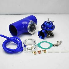 """BLUE TURBO TYPE-RS BOV BLOW OFF VALVE + 2.5"""" BLUE SILICONE COUPLER ADAPTER"""
