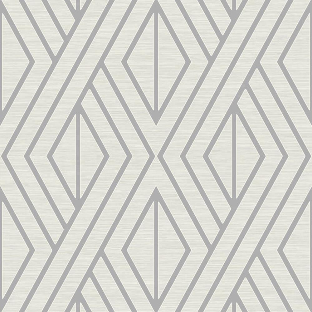 UK30509 - Peartree Geometrisch Weiße Tapete