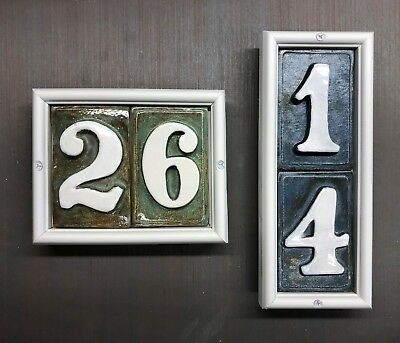 weatherproof design outdoor Applewood Pottery House Address number tiles