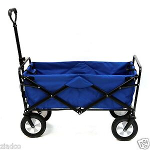 Image Is Loading New Blue Mac Sports Collapsible Folding Utility Wagon