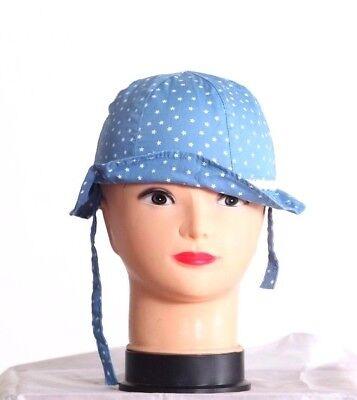 Benetton Baby Girl's Cappelli E Berretti Protezione Dal Sole Stelle Blu Cotone 6ez8b4161 (19)-