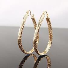 """9ct 9K """" Gold Filled """" 35 X 55mm Large Oval Hoops Earring Valentine Gift E633"""