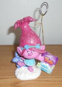 DREAMWORKS TROLLS PHOTO HOLDER CHARACTER POPPY FIGURE WITH TAG