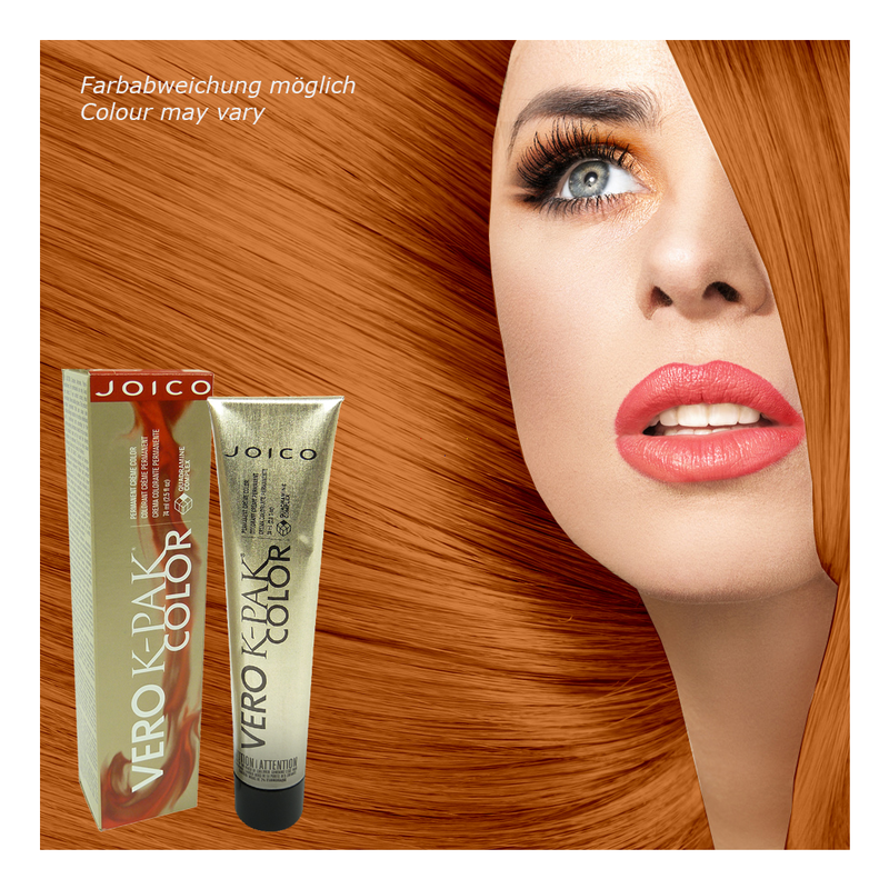 Joico Vero K Pak Color 8rg Medium Red Gold Permanent Cream Hair