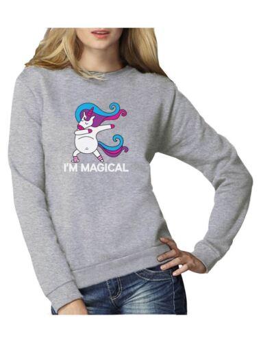 Unicorn Dab I/'m Magical Dabbing Unicorn Women Sweatshirt Gift Idea