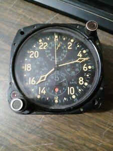 WW2 AN5741-1 Elgin National 5 Dials Air Plane 8 Days Clock/Watch - Running