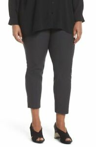LARGE NWT EILEEN FISHER RUSSET WASHABLE STRETCH CREPE SLIM ANKLE PANTS
