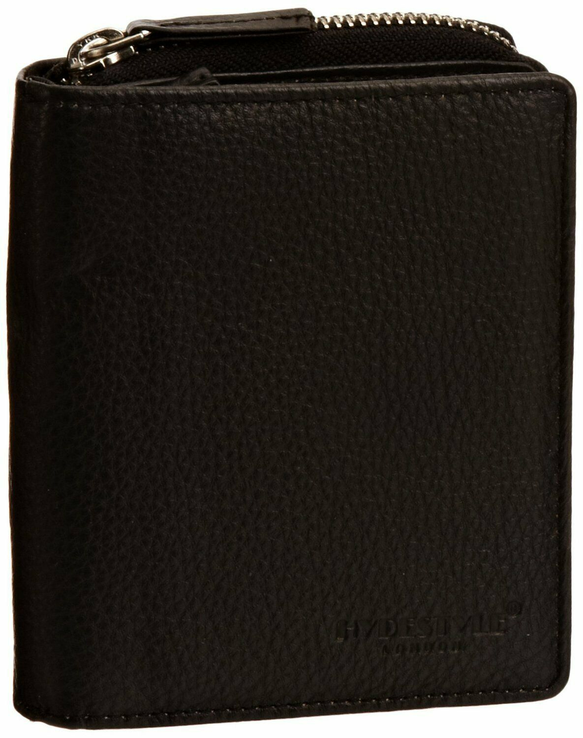 HYDESTYLE Pratico Grained Nappa Leather Trifold Ladies LW01 Black