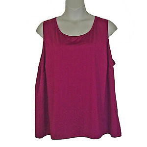 Catherines-Sleeveless-Timeless-Knit-Tank-Top-Dark-Pink-Plus-Size-3X-26W-28W