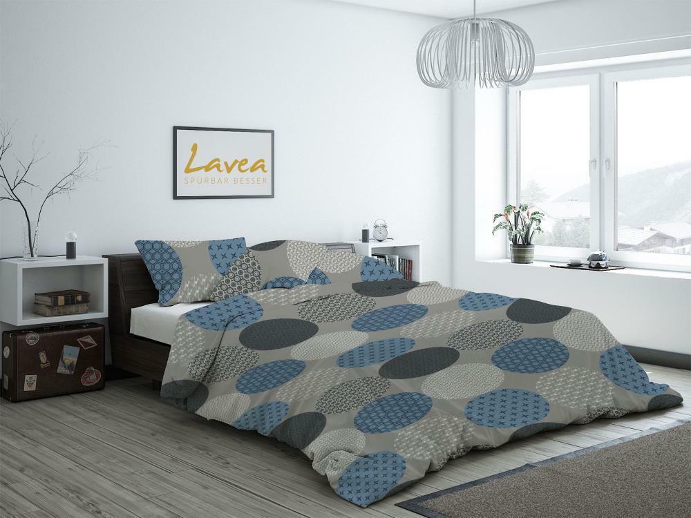 Bettwäsche Dettdecke Bettbezug Set 2-teilig 100% Baumwolle Kreise LAVEA