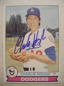 CHARLIE-HOUGH-signed-DODGERS-1979-Topps-baseball-card-AUTO-Autographed-WHITE-SOX