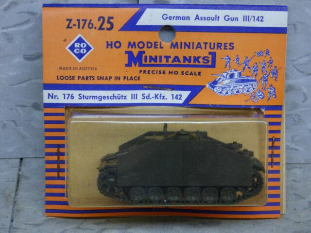Roco Minitanks 1//87 Z-176 WWII German Sd Kfz 142 Stug III Assault Gun Lot# 551X
