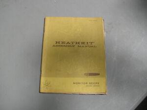 Genuine Heathkit Monitor Scope Model SB-610 Manual