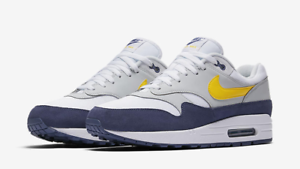Details about Nike Air Max 1 WhiteTour YellowBlue Recall Sizes 8 13 AH8145 105 Brand New