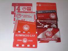 VTG COLLECTIBLE 8 X  GREEK SOCCER SEASONAL TICKETS - OLYMPIAKOS F.C.  !