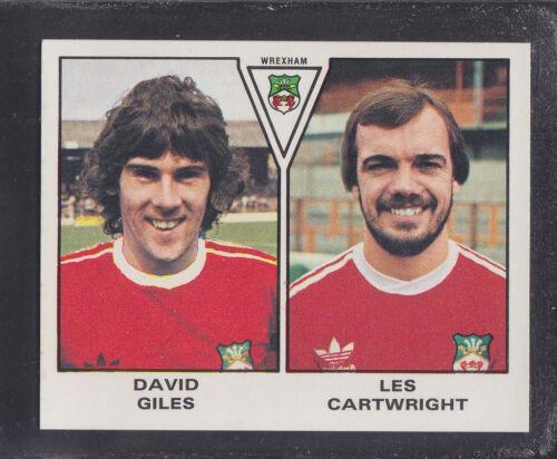Panini-Fútbol 80 Cartwright-Wrexham # 515 Giles
