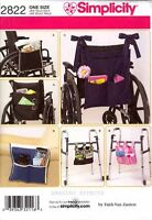 Simplicity Pattern 2822 Wheelchair Walker Lounge Chair Bags Totes Organizers