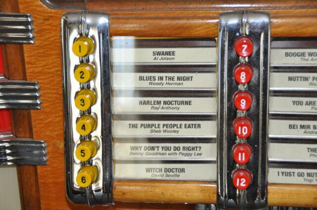 Wurlitzer 1015 or 950 Jukebox Push Buttons