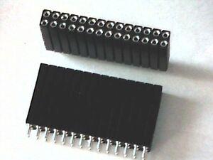 Buchsenleiste-28pol-2x14-female-z-B-zur-vertikalen-Verbindung-von-Platinen