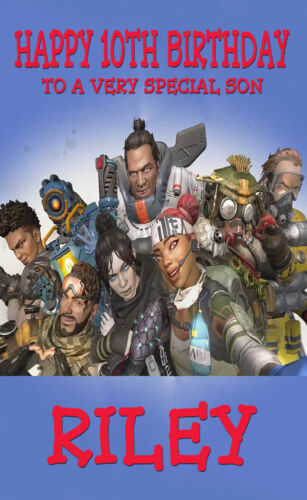 PERSONALISED APEX LEGENDS BIRTHDAY CARD BIRTHDAY KIDS BEST ON PARTY