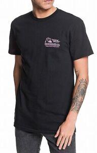 Quiksilver-Mens-T-Shirt-Black-Multi-Size-XL-Daily-Wax-Graphic-Tee-Crewneck-132