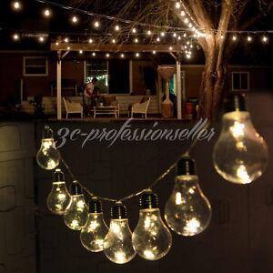 10 Edison Bulbs Warm White Stars LED String Light Garden Patio Gazebo Christmas eBay