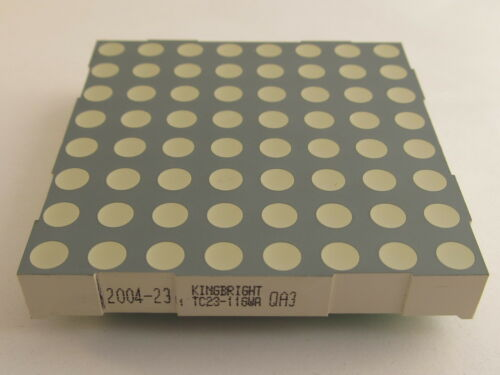 "8x8 matrice DOT DISPLAY Kingbright tc23-11gwa 58,34mm 2,3/"" catodo verde Gem"