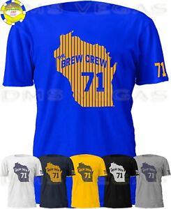 cec31764d Milwaukee Brewers The Brew Crew 71 Josh Hader Jersey Tee Shirt Men S ...