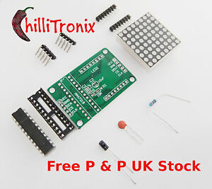 8X8-red-LED-dot-matirx-and-Max7219-driver-module-for-Arduino-Raspberry-Pi-UK