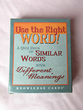 Use the Right Word! Quiz Deck of Similar Words with Different Meanings Cards