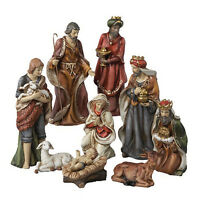 Kurt S. Adler 9 Hand Painted Porcelain 9 Piece Nativity Figure Set Xmas Decor