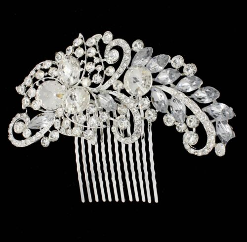 Silver /& Gold Bridal Bridesmaid Wedding Hair Comb Clip Rhinestone Diamante Prom