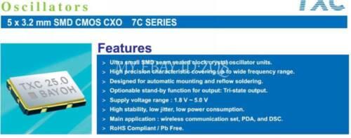 5 el 125m 125mhz 125.000 Mhz OSC activa Oscilador de Cristal 5032 5 Mm X 3,2 Mm