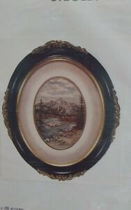 Vtg-Louise-Gregoire-petit-point-chart-only-Mount-Lorette-landscape-lake