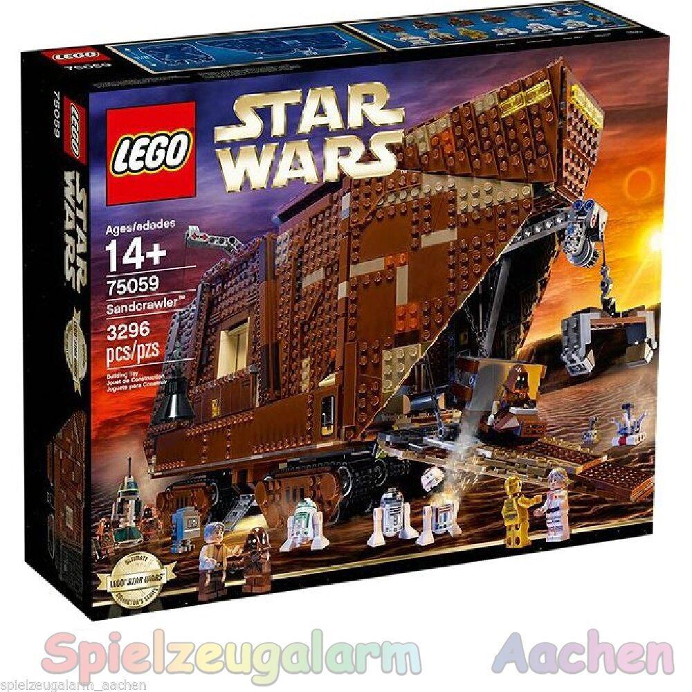LEGO 75059 STAR WARS Sandcrawler Exclusiv  Luke Skywalker Onkel Owen C-3PO Jawas