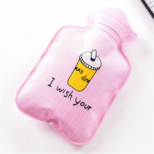 Cute Mini Water Bottles Portable Hot Warm Water Storage Bag Cartoon Design Cover