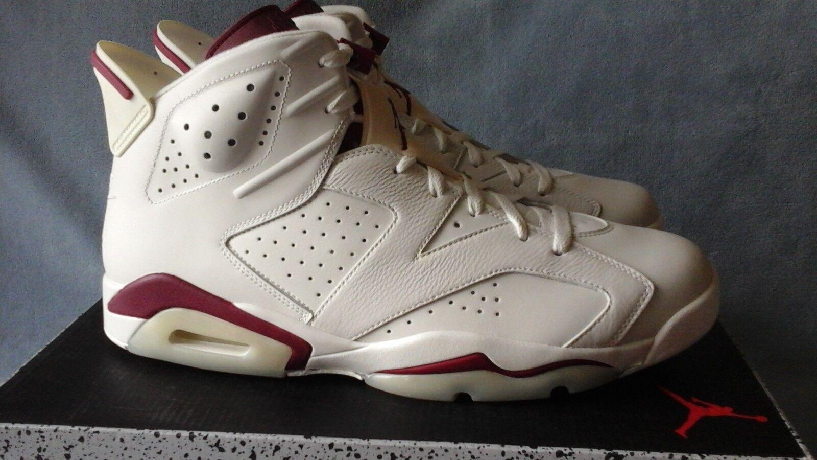 Nike Air Jordan 6 Retro OG Maroon 384664-116 Size 14
