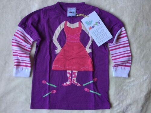Girls Morfs Shirt Ballerina Long Sleeve Sock Boutique Stitched Purple Top Tee 2T