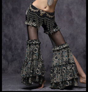 51cfc767be Hot! D173 Tribal Vintage Bohemia Pants Carnival Performance Belly Dance  Costume
