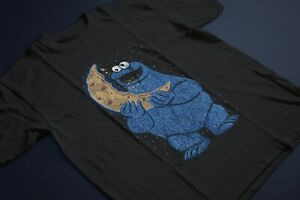 Cookie-Monster-Moon-Cookie-Unisex-Black-T-Shirt-PH527