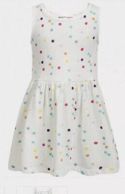 New Girls Debenhams Bluezoo Textured Peach Bright Skater Dress Age 7-8 DD55