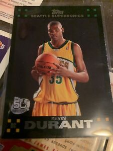 Details About Kevin Durant Rookie Card Topps 50th Anniversary