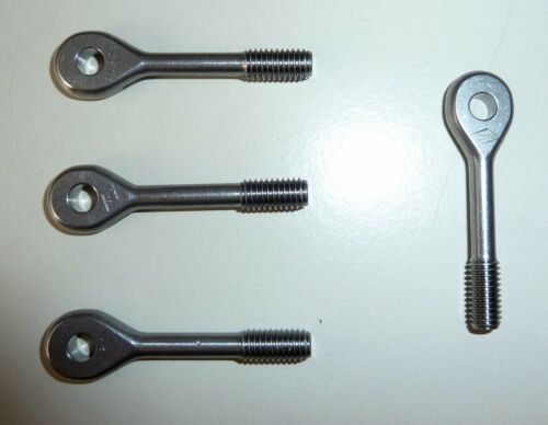 4x Augenschrauben; Ösenschraube Ringschrauben M6;aus VA; Augenschraube Schraube