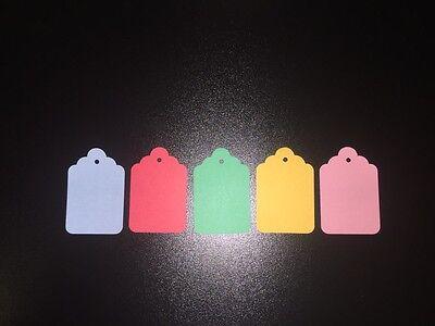 Fiducioso 50 X Piccolo Colorati Biglietti Cartellini Mini Bagaglio Confezionamento Wedding Favor Crafts-mostra Il Titolo Originale Assicurare Anni Di Servizio Senza Problemi