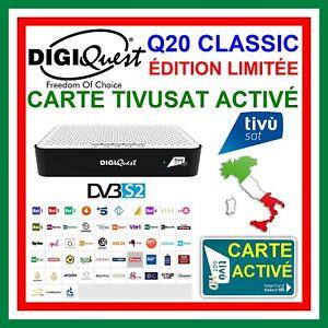 TIVUSAT DIGIQUEST Q20 CLASSIC + CARTE TIVUSAT ACTIVÉ > CHAINES ITALIENNES PRETES